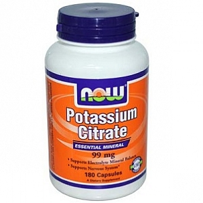 NOW POTASSIUM CITRATE 180 капс